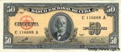 50 Pesos CUBA  1960 P.081c SPL
