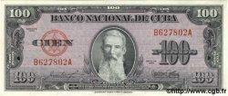 100 Pesos CUBA  1954 P.082b SPL