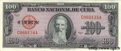 100 Pesos CUBA  1958 P.082c