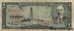 1 Peso CUBA  1957 P.087b B+