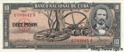 10 Pesos CUBA  1958 P.088b