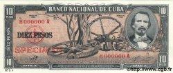 10 Pesos CUBA  1960 P.088s3 NEUF