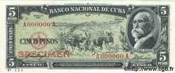 5 Pesos CUBA  1958 P.091s1