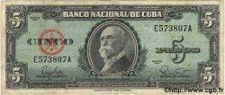 5 Pesos CUBA  1960 P.092a TB