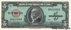 5 Pesos CUBA  1960 P.092a