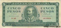 5 Pesos CUBA  1964 P.095b