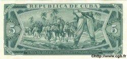5 Pesos CUBA  1964 P.095bs SPL