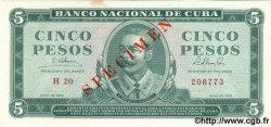 5 Pesos CUBA  1965 P.095cs SPL