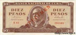 10 Pesos CUBA  1964 P.096bs pr.NEUF