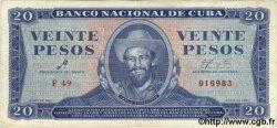 20 Pesos CUBA  1961 P.097a TTB