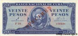 20 Pesos CUBA  1961 P.097as pr.NEUF