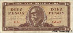 10 Pesos CUBA  1966 P.101