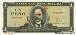 1 Peso CUBA  1967 P.102as NEUF