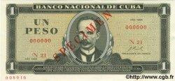 1 Peso CUBA  1969 P.102as NEUF