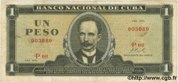 1 Peso CUBA  1970 P.102a TTB