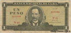 1 Peso CUBA  1972 P.102a TB