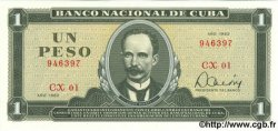 1 Peso CUBA  1982 P.102b NEUF