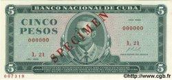 5 Pesos CUBA  1967 P.103as NEUF