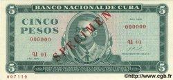 5 Pesos CUBA  1970 P.103bs