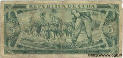 5 Pesos CUBA  1972 P.103b