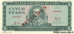 5 Pesos CUBA  1972 P.103bs
