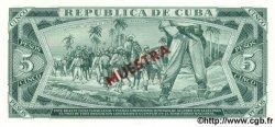 5 Pesos CUBA  1985 P.103c