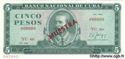 5 Pesos CUBA  1986 P.103c