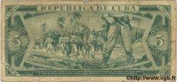 5 Pesos CUBA  1987 P.103c AB