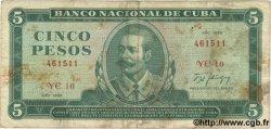 5 Pesos CUBA  1988 P.103d pr.TB