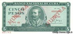 5 Pesos CUBA  1988 P.103d NEUF