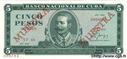 5 Pesos CUBA  1990 P.103d NEUF