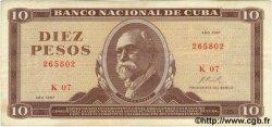 10 Pesos CUBA  1967 P.104a TTB