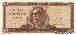 10 Pesos CUBA  1968 P.104as pr.NEUF
