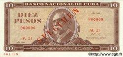 10 Pesos CUBA  1969 P.104as NEUF
