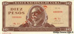 10 Pesos CUBA  1970 P.104as pr.NEUF