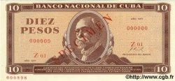 10 Pesos CUBA  1971 P.104as NEUF