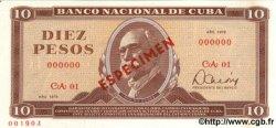 10 Pesos CUBA  1978 P.104b
