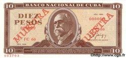 10 Pesos CUBA  1988 P.104d NEUF