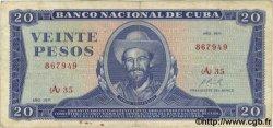 20 Pesos CUBA  1971 P.105a TB