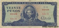 20 Pesos CUBA  1983 P.105c TB
