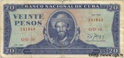 20 Pesos CUBA  1989 P.105d pr.TB