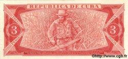 3 Pesos CUBA  1983 P.107a SPL