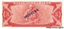 3 Pesos CUBA  1983 P.107a NEUF