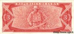 3 Pesos CUBA  1985 P.107a SPL
