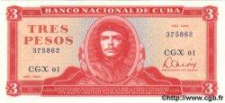 3 Pesos CUBA  1985 P.107a NEUF