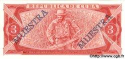 3 Pesos CUBA  1986 P.107a NEUF