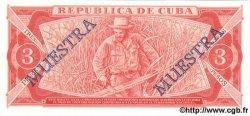 3 Pesos CUBA  1988 P.107b NEUF