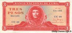 3 Pesos CUBA  1989 P.107b pr.SUP
