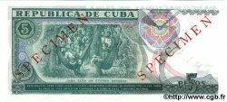 5 Pesos CUBA  1991 P.108s NEUF