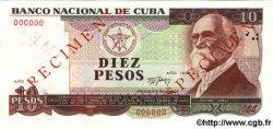 10 Pesos CUBA  1991 P.109s NEUF